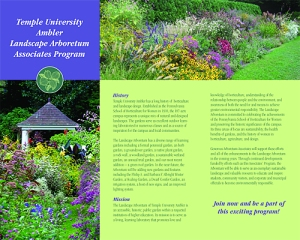 Brochure for a University Arboretum. Design by Communication Results